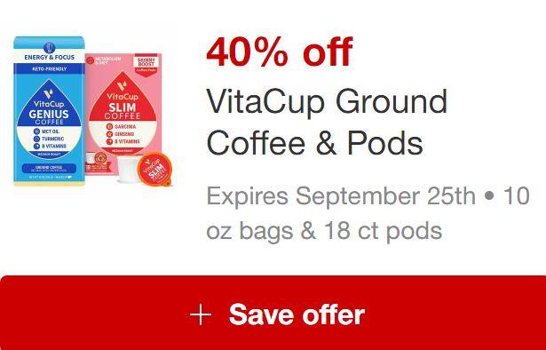 Image of VitaCup Coffee Target Circle Offer