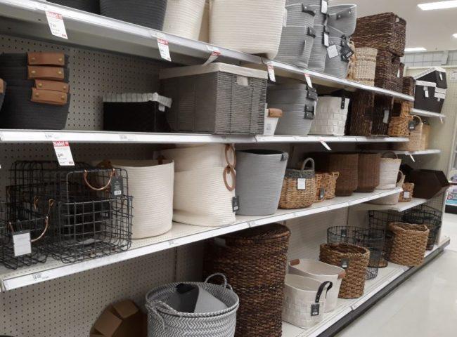 decorative storage baskets at Target