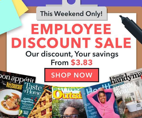 Image of Employee Discount Magazine Sale