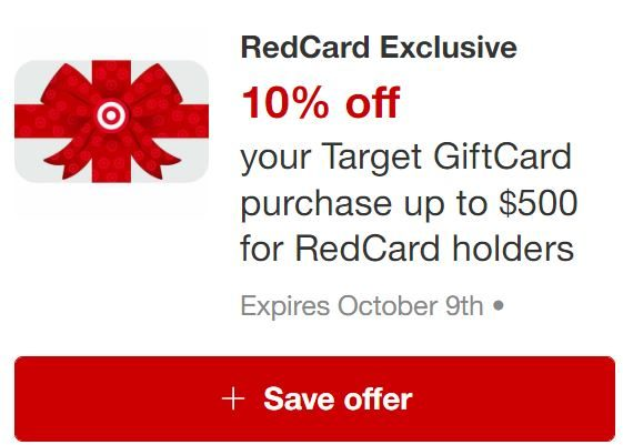 Target Red Card exclusive